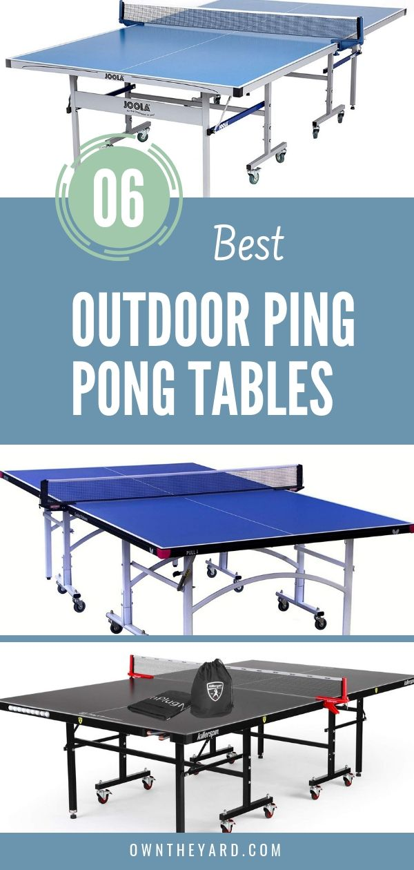 6 Best Outdoor Ping Pong Tables Review Outdoor Ping Pong Table Ping Pong Ping Pong Tables Best outdoor ping pong table