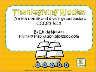 Thanksgiving Riddles - FREEBIE! as seen on Kindergarten Klub  www.kindergartenklub.com