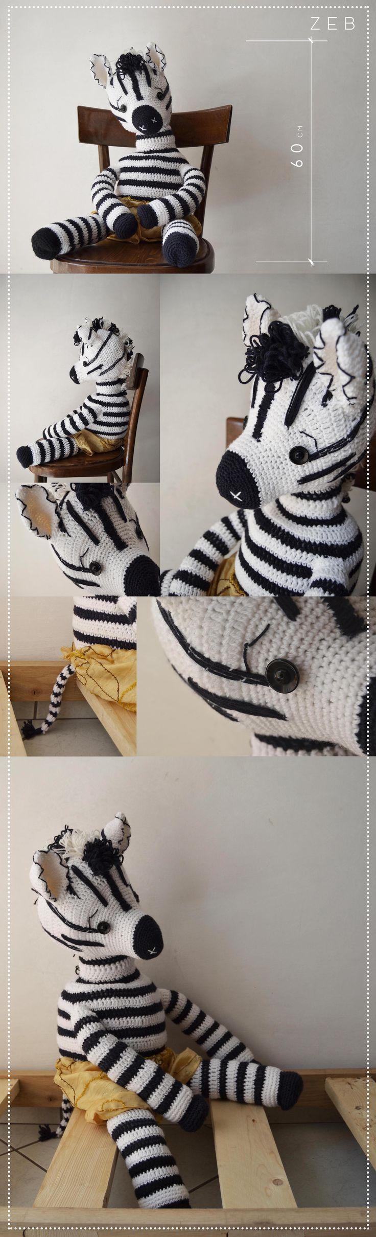 ZEB- realizzato all'uncinetto completamente in lana acrilica, riempimento in bambagia. #zebra #zeb #amigurumi #wool #doll #madewithcare #handmade #crochet