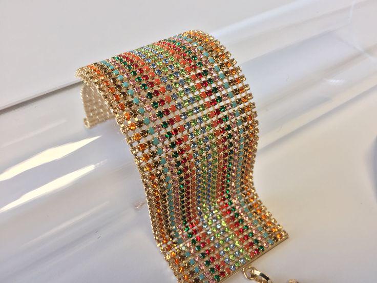 Polsiera multicolore in strass