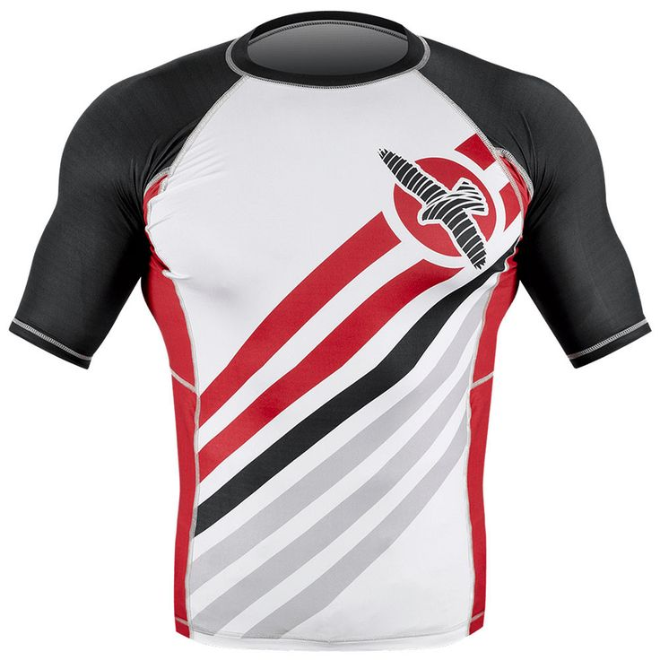 The Hayabusa Elevate Shortsleeve Rashguard proves that not all rashguards are created equal. Train in the best with the best technical apparel! Optimized with Hayabusa's high performance tensile fabric for ultimate comfort and flexibility Short Sleeve Smooth stitch finishing to prevent chafing and fiber-fused graphics for uncompromised durability Maximizes protection against cuts, scrapes, and rashes Keeps your body dry and muscles warm, for maximum performance
