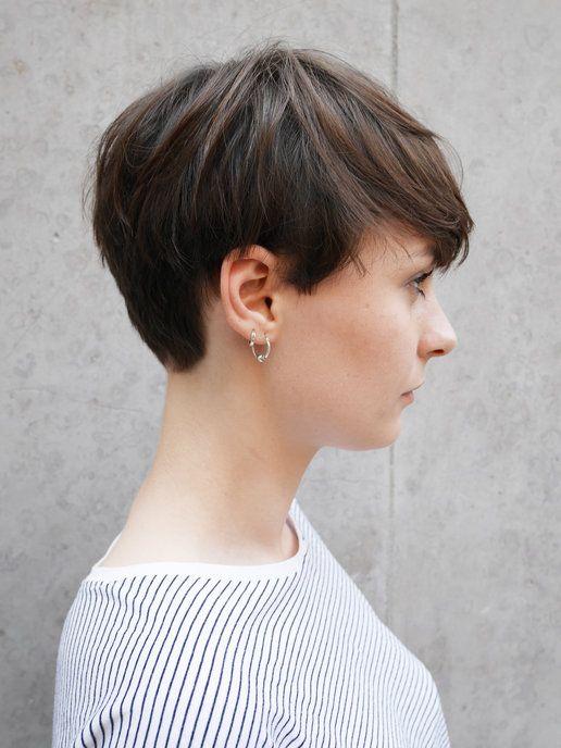 【ELLE】サイドスタイル|パリ発ほんのりスイートなショートヘア|エル・オンライン