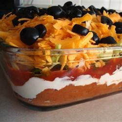 Seven Layer Taco Dip - we make it all the time is one of everyone's favorites...easy and delicious!!