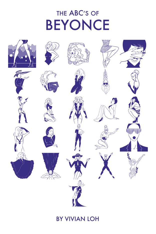 Artist Vivian Loh has created this glorious alphabet using iconic looks from Beyoncé's career to form every letter.
