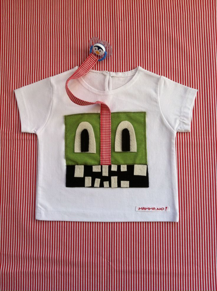Maglietta MAMMANO bimbo mostro verde
