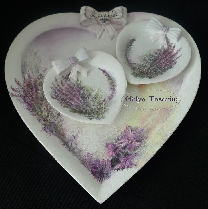 Heart shaped serving tray by Hulya Tasarim
