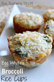 Healthy Meals Monday: Egg Whites and Broccoli Rice Cups | Six Sisters' Stuff