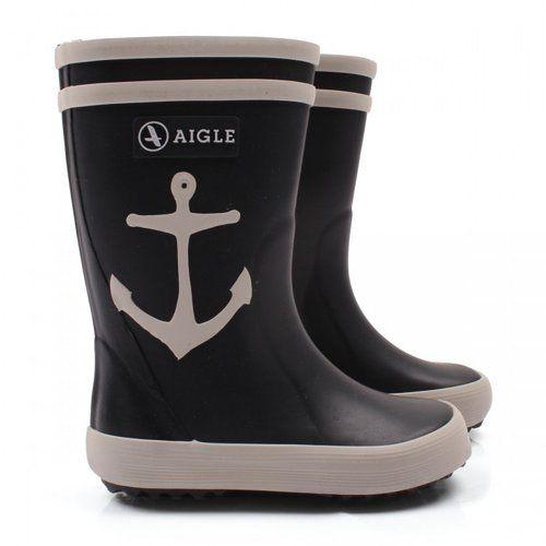 Telling the rain, rain to go away looks oh-so-cute in Aigle's anchor Wellington boots ($49).