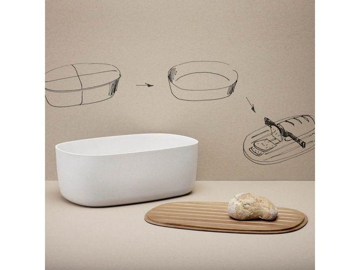 1795 Kč, Chlebník s bambusovým prkénkem STELTON RIG-TIG Box-It Praktická nádoba na chléb z melaminu s bambusovým víkem