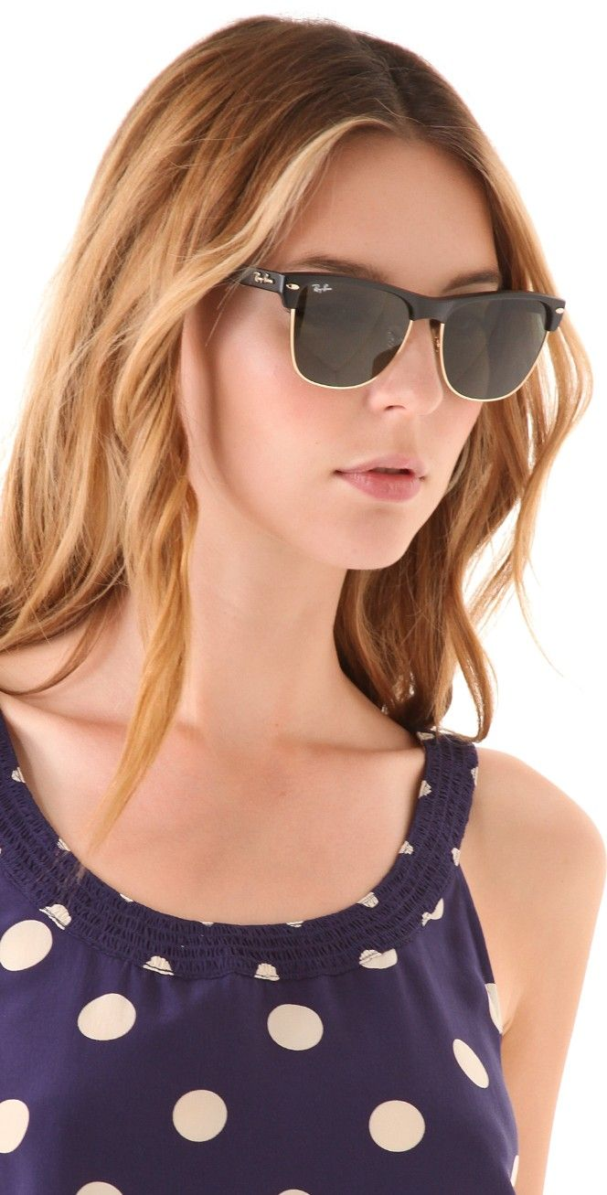 Ray-Ban Oversized Clubmaster Sunglasses | SHOPBOP