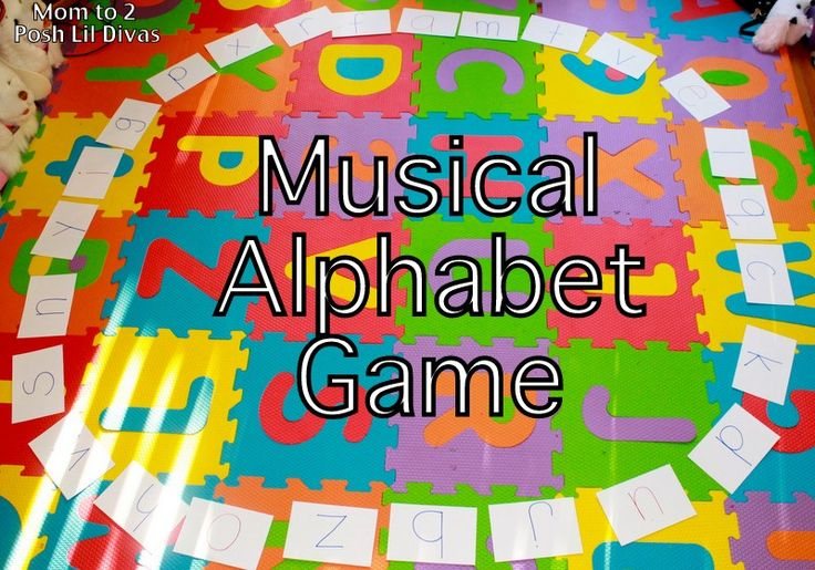 1.  Write the letters of the alphabet on large index cards, card stock or construction paper. 2. Arrange them in a large circle on the floor, in mixed up order. 3. Turn on some music and have child dance around the circle. 4. When the music stops, child must stop. Child must identify the letter they stopped near, provide the sound it makes and share at least one word that begins with that sound. 5. Continue until all letters and sounds have been reviewed.
