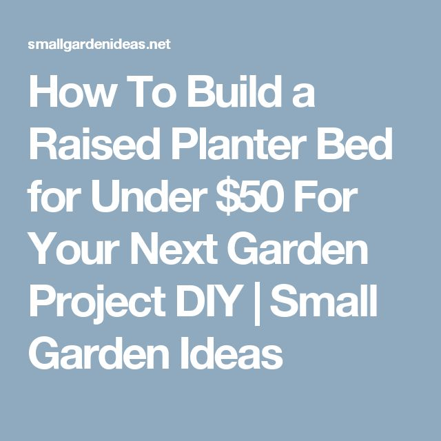 How To Build a Raised Planter Bed for Under $50 For Your Next Garden Project DIY | Small Garden Ideas