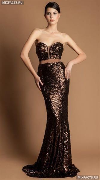 Вечернее платье из пайетки