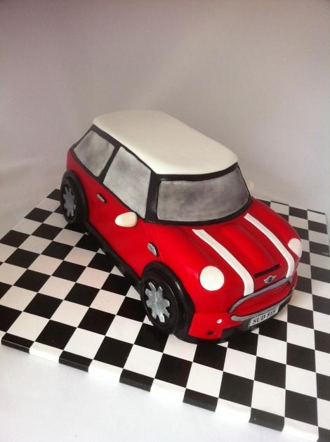 Mini Cooper s cake