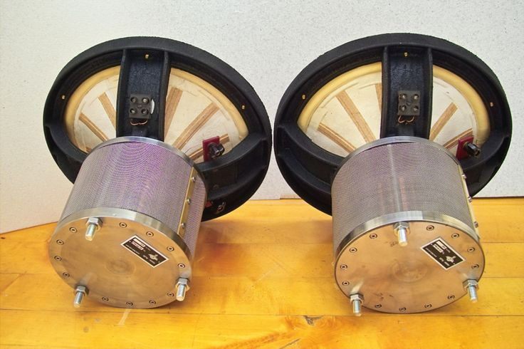 """Ultimate 12"""" field coil speakers from Atelier Rullit."""