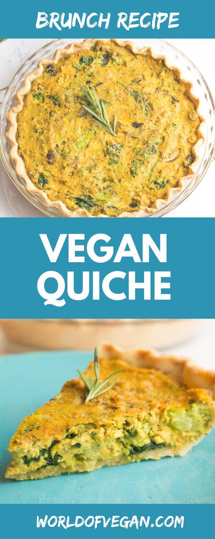Vegan Quiche Recipe With Leeks Mushrooms Broccoli Recipe Vegan Quiche Quiche Recipes Vegan Brunch