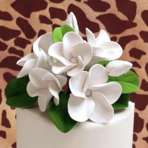 Plumeria Cake Toppers - White