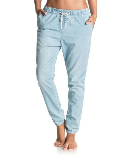 Roxy Light Blue Easy Beachy Chino Joggers - Women | zulily