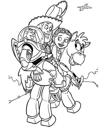 72 best Coloring Pages Toy Story images on Pinterest  Coloring