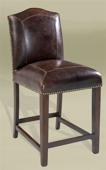 Lovely Leather Stool From Roughing It In Style. Madison, WI, Harshaw, WI,