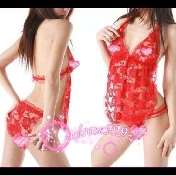 Buy 2 Get 3 FREE! Red lingerie set New in package. Available in red and in black. CID#192 Intimates & Sleepwear