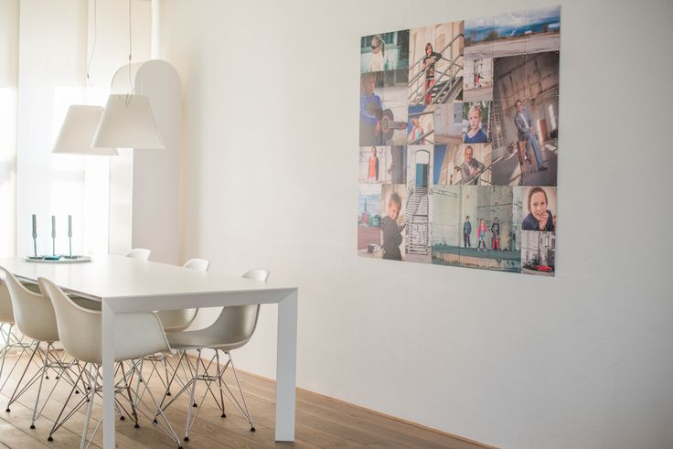 IXXI wall decoration made with a couple of family photos shot during a photoshoot. The IXXI in this example will cost $127.35 (own images, 140 x 120 cm). #ixxi #ixxidesign