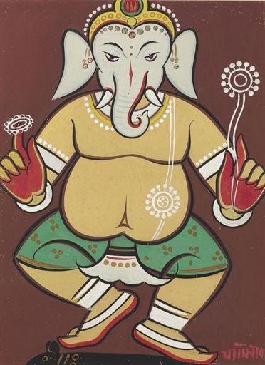 Jamini Roy - Untitled (Dancing Ganesha)