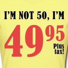 A funny birthday gag gift for men and women celebrating a milestone age.