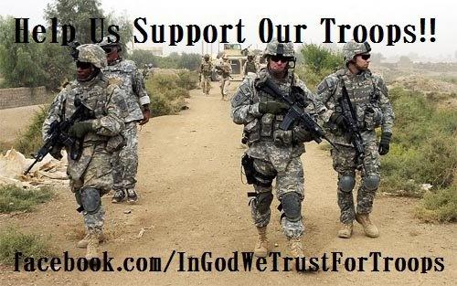 Support or Troops https://www.facebook.com/InGodWeTrustForTroops