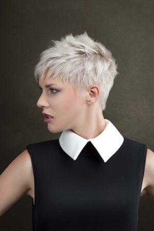 image coiffure hyper courte femme
