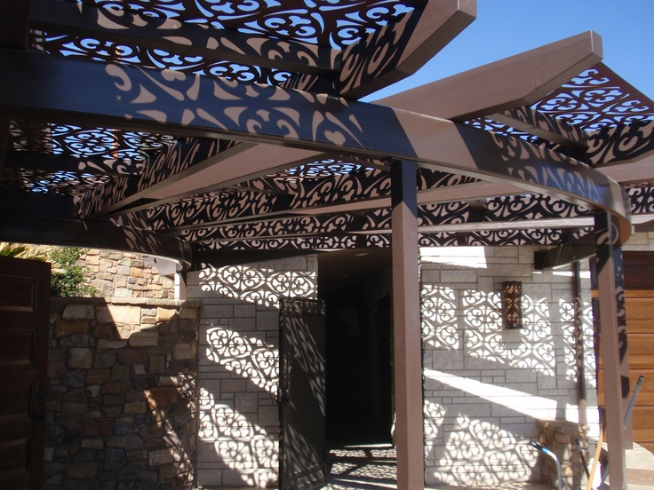 Shadows and shade panels by in the old for Steel shade structure design