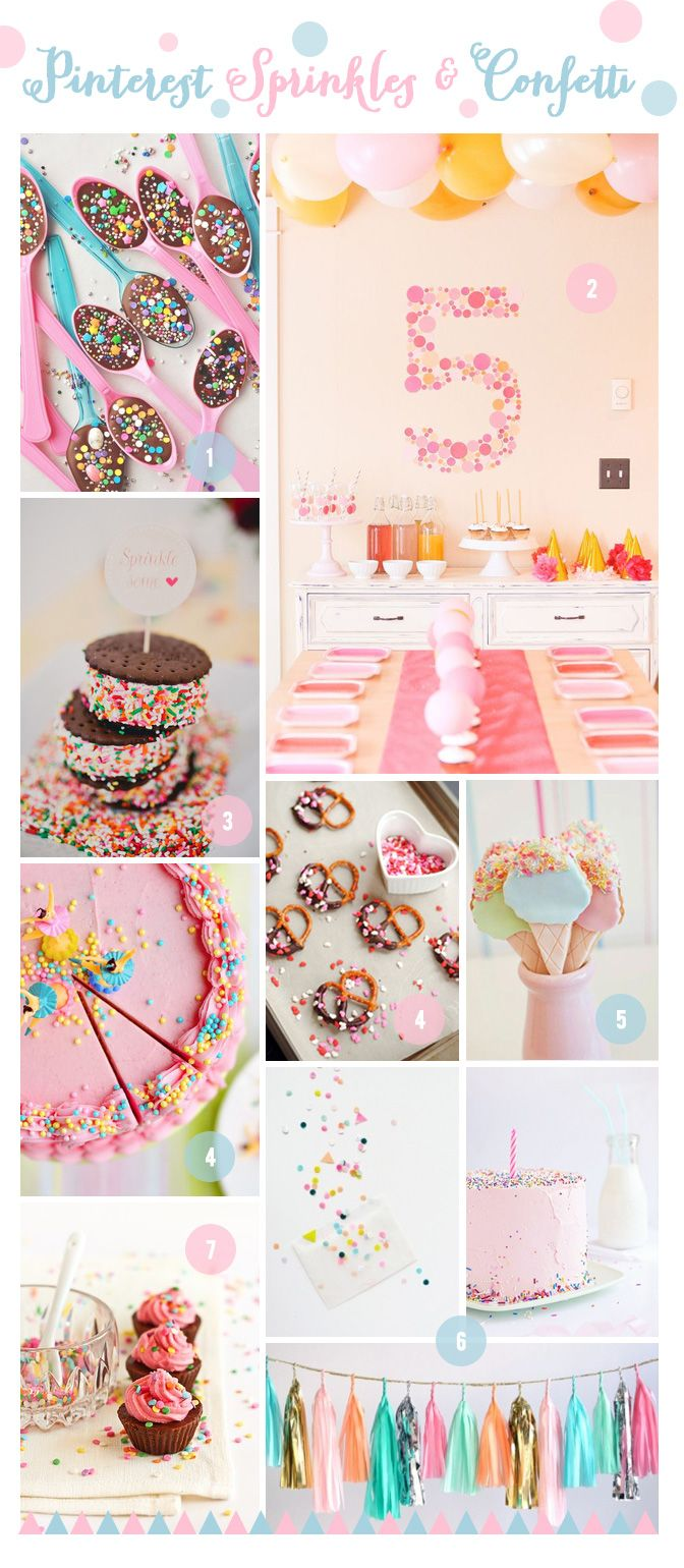 Friday Pinterest Colour Crush – Confetti and Sprinkles