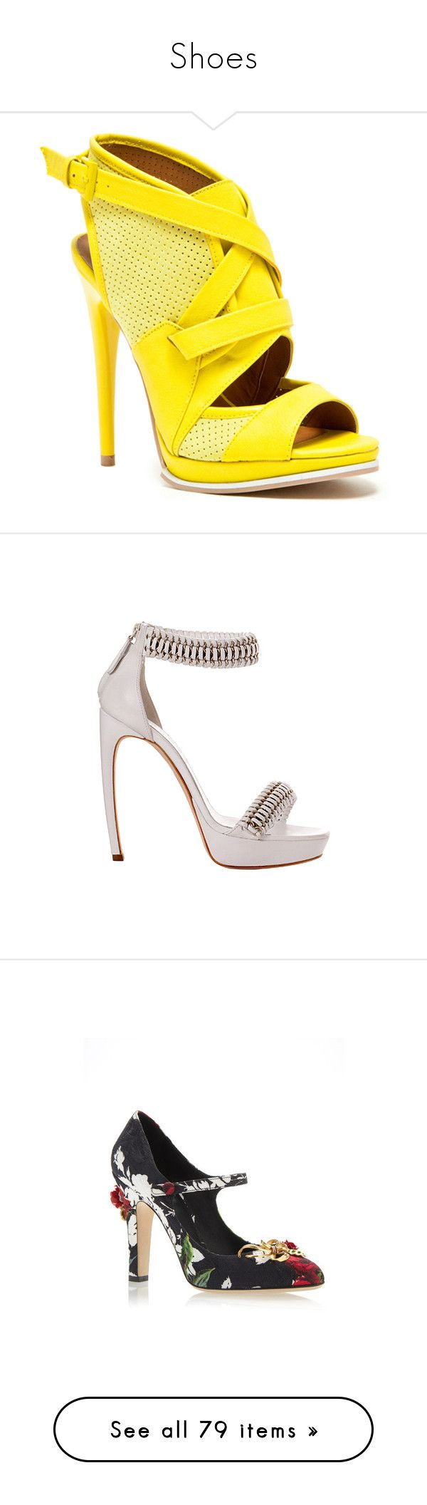 """""""Shoes"""" by bliznec ❤ liked on Polyvore featuring shoes, sandals, heels, yellow, strappy sandals, heeled sandals, strap heel sandals, strap shoes, strappy heeled sandals and alexander mcqueen"""