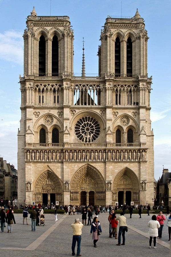 Notre Dame Cathedral, Paris, France. Visited in 1981, 1994 and 1998.