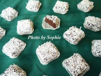 ミニ・ココナッツ・チョコレート・レイヤーケーキ
