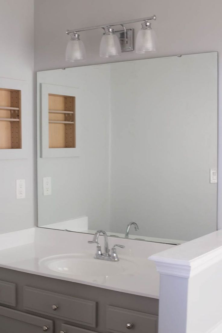 How to Frame a Bathroom Mirror - Easy DIY project ...
