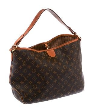 Louis Vuitton Delightful Mm Canvas Monogram (20064) Brown & Gold Tote Bag