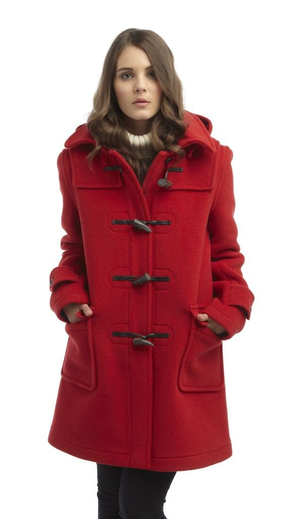 Womens Red London Duffle Coat | Buy direct and save £100 | Montgomery Duffle
