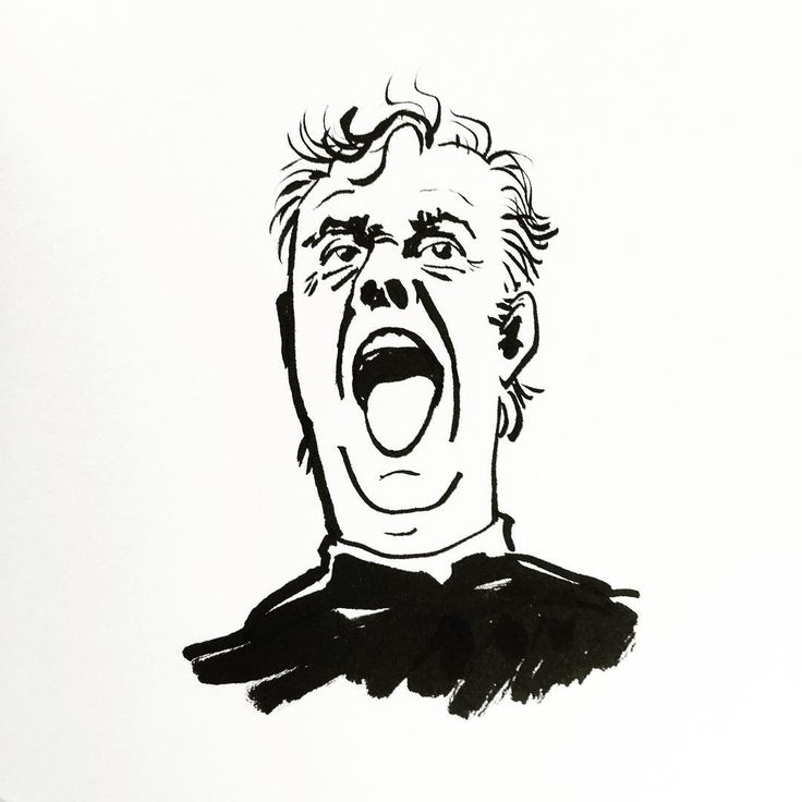 Dario Fo by Jon Skraentskov Ink on paper 2016 #illustration #dariofo