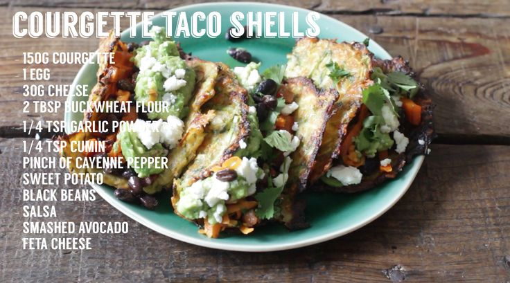 Homemade Tries: Courgette Taco Shells