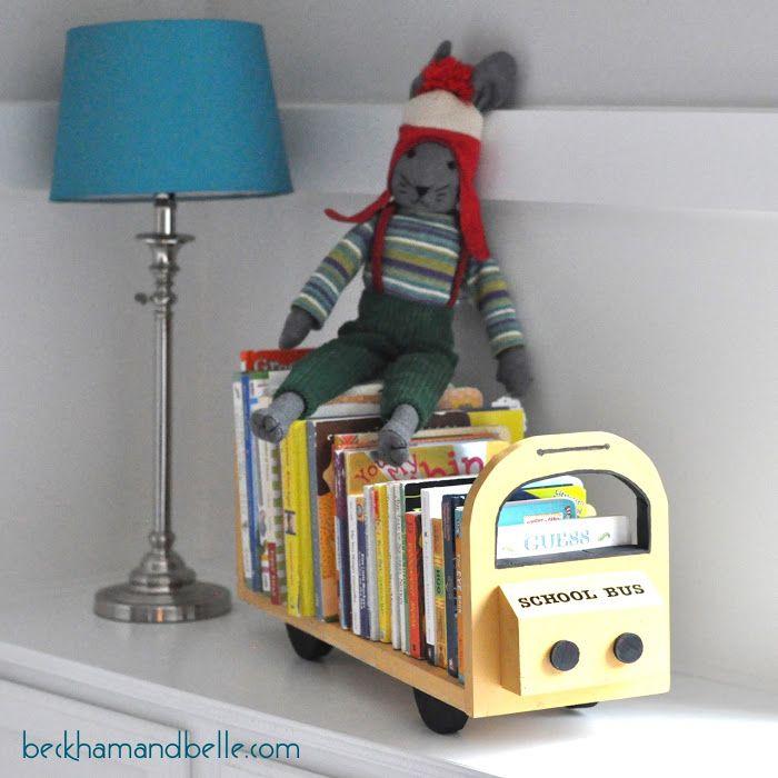 foto de DIY School Bus Bookshelf Buses Belle and The o'jays