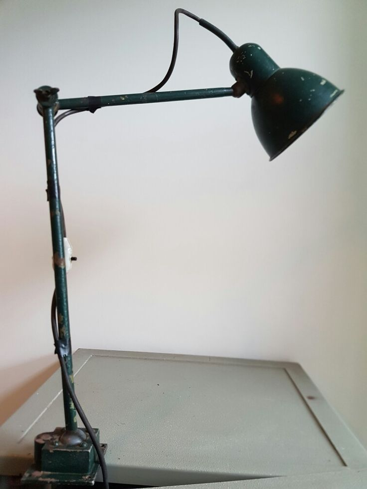 Industrial machinist lamp. For sale.