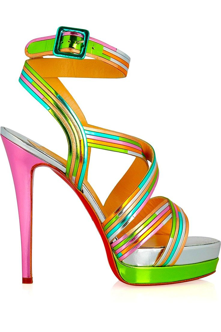 Multi coloured Pink High Heel Stiletto by Christian Louboutin