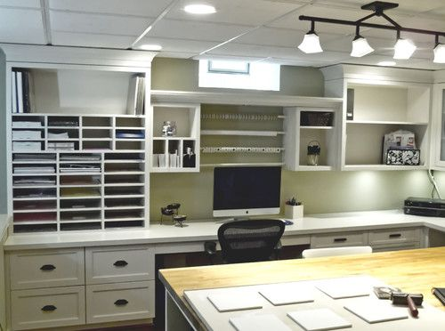 Home Office Craft Room Design, Pictures, Remodel, Decor And Ideas   Page 6  Office Love These Cozy Colors! @ DIY Home Design