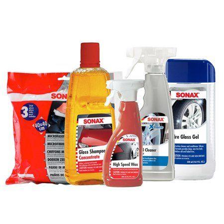Sonax 230202 Premium Exterior Car Wash Kit Walmart Com Car Wash Car Hacks Repair