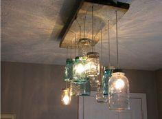 Lighting design e riciclo creativo. 18 idee da realizzare per l'illuminazione in casa | GreencycleWay