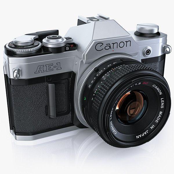 http://www.turbosquid.com/3d-models/retro-photo-camera-canon-3d-model/634256