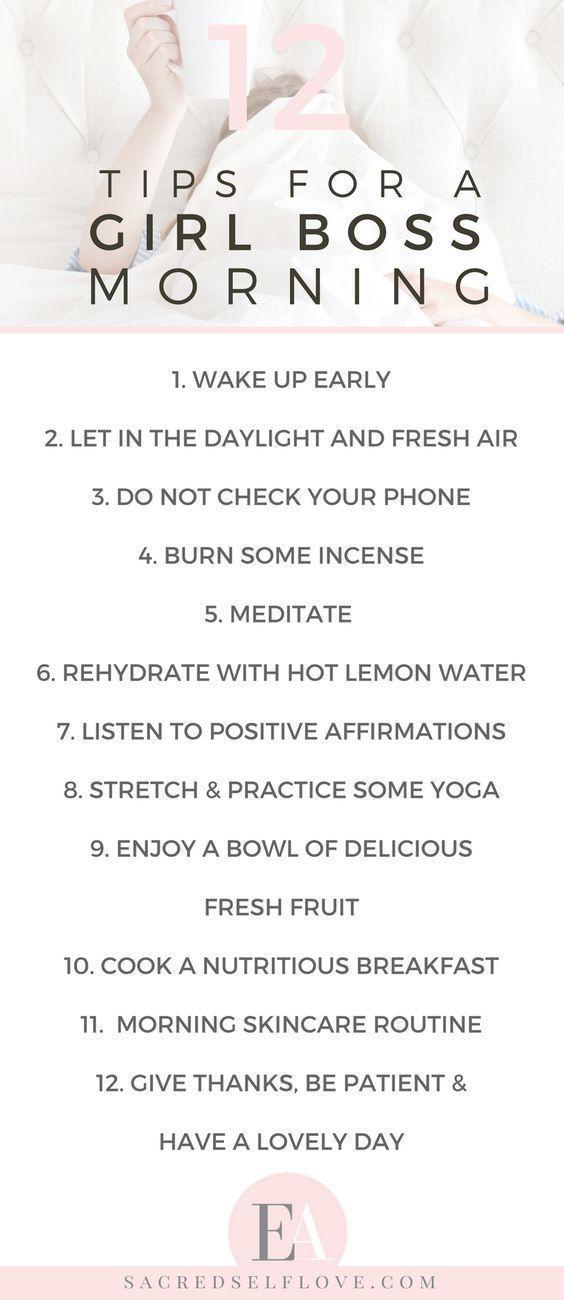 Self-Care Morning Routine – #morning #regimen #Rou…