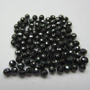 LOT OF 5.0 CT (2.0-3.0 MM) NATURAL BLACK LOOSE DIAMOND FACETED BEADS FOR NECKLACE THAT WILL MAKE YOU LOOK REALLY GORGEOUS at wholesale price.
