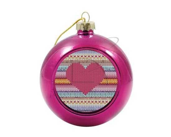Palla di Natale vetro colorato Wool heart